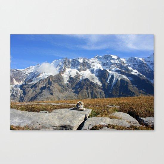 Trail Blazing the Alps Canvas Print