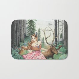 The Queen of the forest Bath Mat