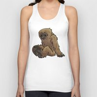 bigfoot Tank Tops featuring Bigfoot by Savannah Horrocks