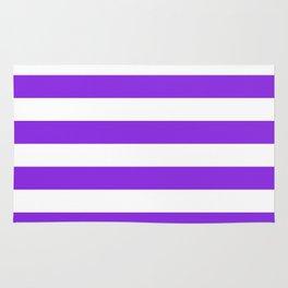 Horizontal stripes / blue violent Rug
