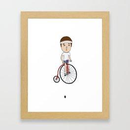 Bicycling Framed Art Print