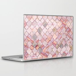 Moroccan Pattern in Marble and quartz crystal Texture Laptop & iPad Skin