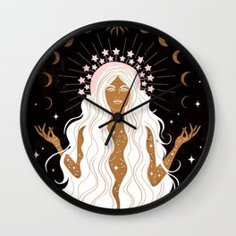 Summer Solstice Moon Goddess Wall Clock