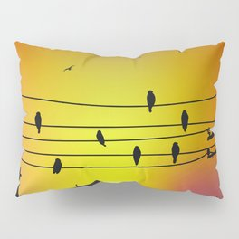 Ltd Edition print : song of city (city have its own song but we have the ears to hear the voice) Pillow Sham