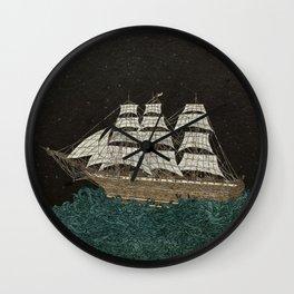 Tall Ship Wall Clock