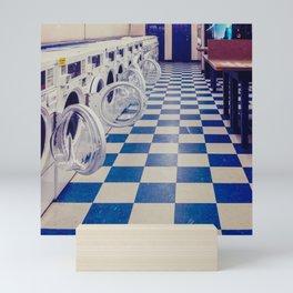 Laundry room at night Mini Art Print