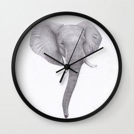 Elephant head Drawing Wall Clock