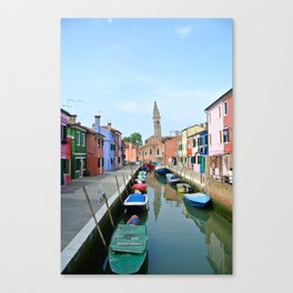 Leaning Tower in Burano Canvas Print