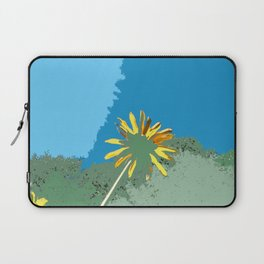 Flowers, abstract photography digital, blue green yellow Laptop Sleeve