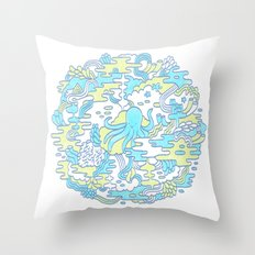 Ocean Zone Throw Pillow