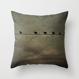 Storm birds Throw Pillow