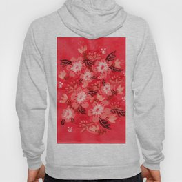 Cranberry Blooms Hoody