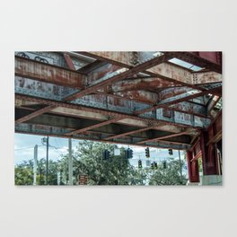 Under the Bridge, Jacksonville FL Canvas Print