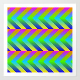 Colorful Gradients Art Print