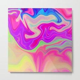 Colored Swirls 05 Metal Print