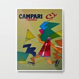 Vintage Italian Bitter Campari Lithograph Advertisement Poster Metal Print