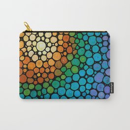 Blissful - Colorful Mosaic Art - Sharon Cummings Carry-All Pouch