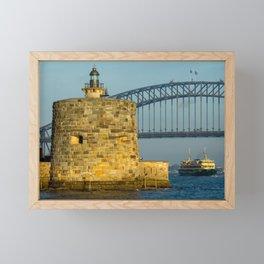 Fort Denison, Sydney Harbour Framed Mini Art Print