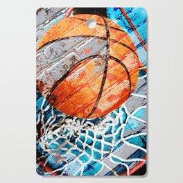 Modern basketball art 3 Cutting Board
