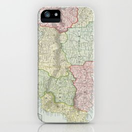 Vintage Map of Puerto Rico (1901) iPhone Case