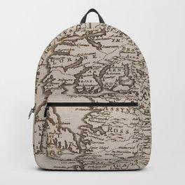 Vintage Map of Scotland (1681) Backpack