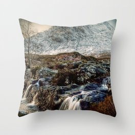The Buachaille Etive Mor, Scotland Throw Pillow