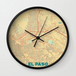 El Paso Map Retro Wall Clock