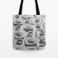 pasta Tote Bags featuring Pasta by Isabel Martinez Isabel