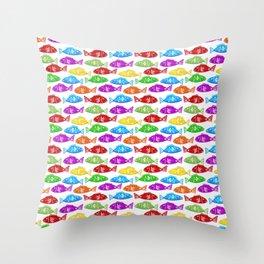 Rainbow Nordic Gummy Fish Throw Pillow