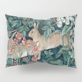 William Morris Forest Rabbits and Foxglove Greenery Pillow Sham