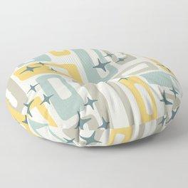 Mid Century Modern Geometric Abstract 132 Floor Pillow
