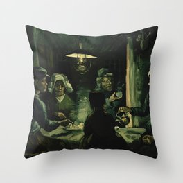 The Potato Eaters by Vincent van Gogh, 1885 Throw Pillow