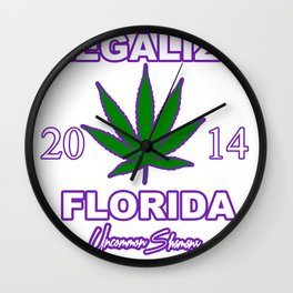 LEGALIZE FLORIDA 2014 Uncommon Shamans Wall Clock
