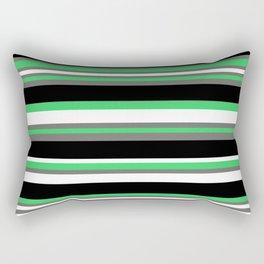Stripes Pattern: Green Rectangular Pillow