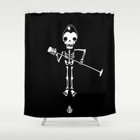 rockabilly Shower Curtains featuring Rockabilly singer  by To The Bones