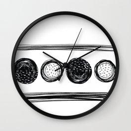 Black White One Wall Clock
