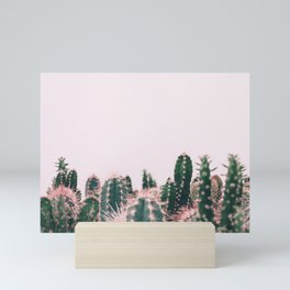 Pink Blush Cactus Mini Art Print