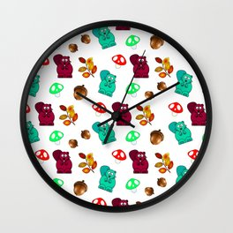 Funny Forest Medley Wall Clock