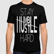 Stay Humble Hustle Hard Mens Fitted Tee Black SMALL