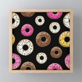 Funfetti Donuts - Black Framed Mini Art Print