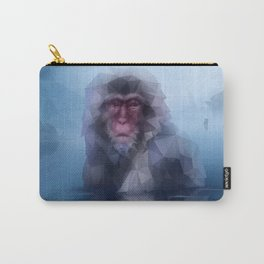 Macaque (Low Poly Blue Snow Monkey) Carry-All Pouch