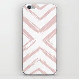 Minimalistic Rose Gold Paint Brush Triangle Diamond Pattern iPhone Skin