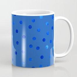 Unique Blue Polka Dots Pattern Coffee Mug