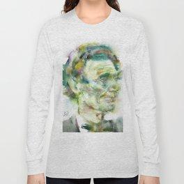 ABRAHAM LINCOLN - watercolor portrait.2 Long Sleeve T-shirt