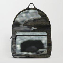 Zen Balancing Pebbles Seashore Backpack