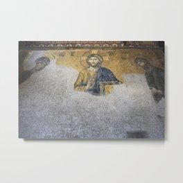 The Deesis Mosiac Upper Gallery Hagia Sophia Metal Print