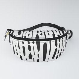 Ice Melt Black and White Fanny Pack