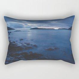 Blue Sunset on the Water, New Zealand Rectangular Pillow