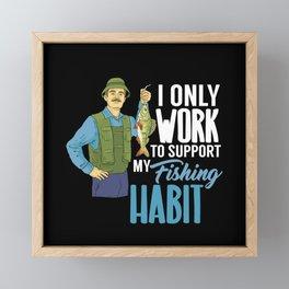 Fishing  Fishing Lover Gift Framed Mini Art Print