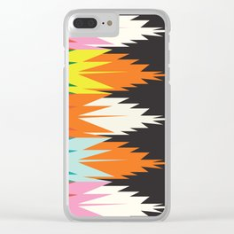 American Native Pattern No. 123 Clear iPhone Case